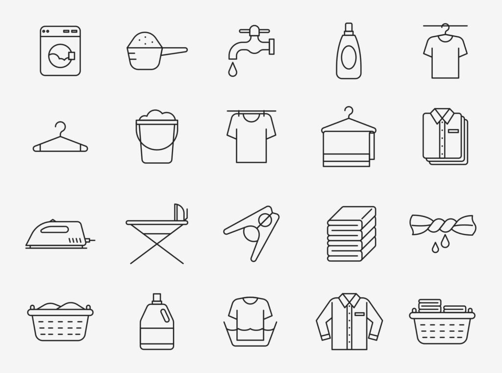 Free Realistic 20+ Laundry Vector Icons