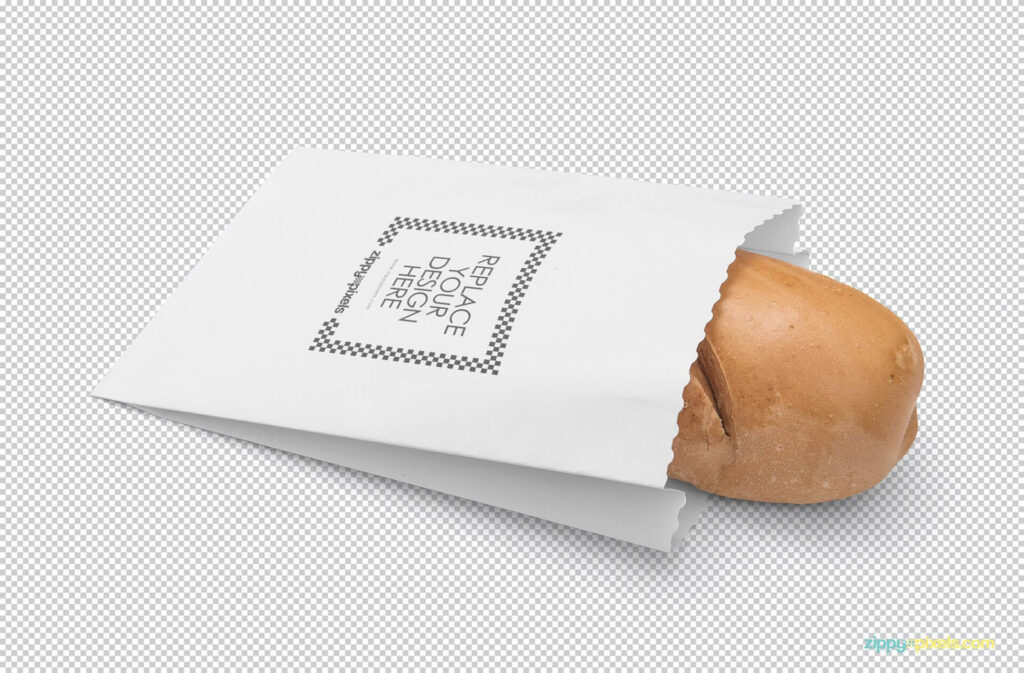Free Realistic Bread Packaging Mockup PSD Template2