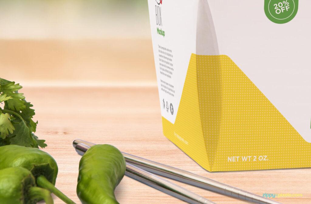 Free Realistic Modern Lunch Box Mockup PSD Template5