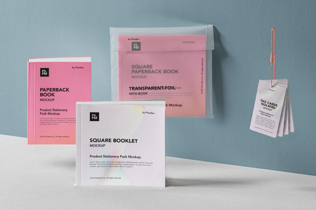 Free Realistic Product Manual Mockup PSD Templat1