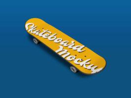 Free Realistic Skateboard Free Mockup PSD Template