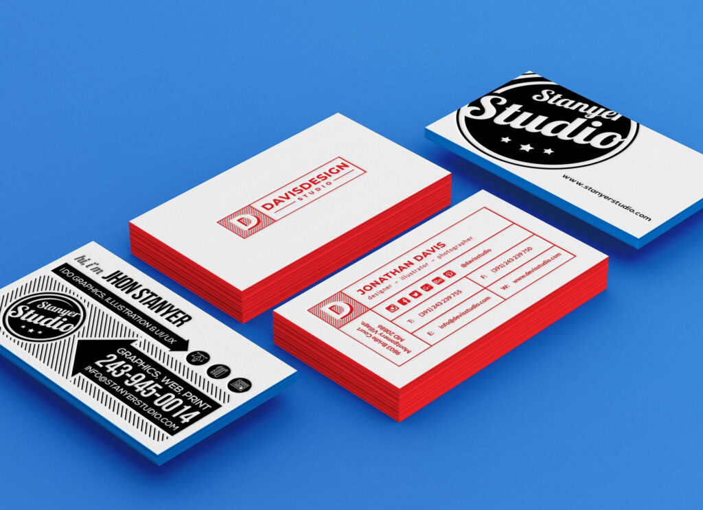 Free Realistic Stack of Business Card Mockup PSD Template1