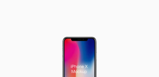 Free Realistic iPhone X Mockup PSD Template