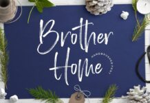 Free Script Brother Home Font1