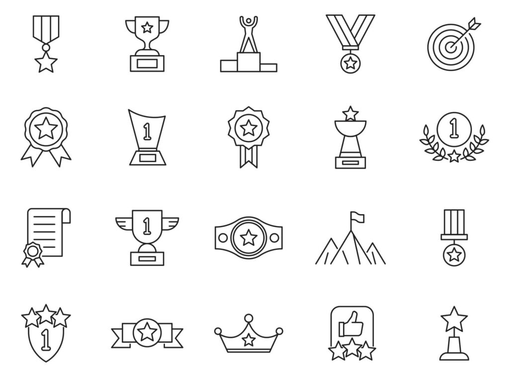 Free Simple 20 Achievement Vector Icons