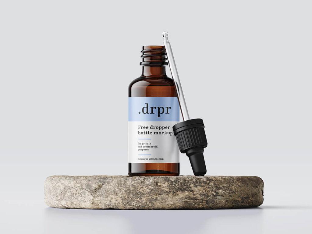 Free Simple Dropper Bottle Mockup PSD Template1
