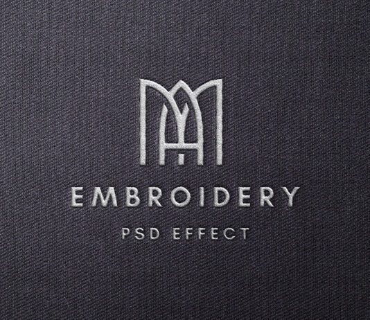 Free Simple Stitched Embroidery Mockup PSD Template1