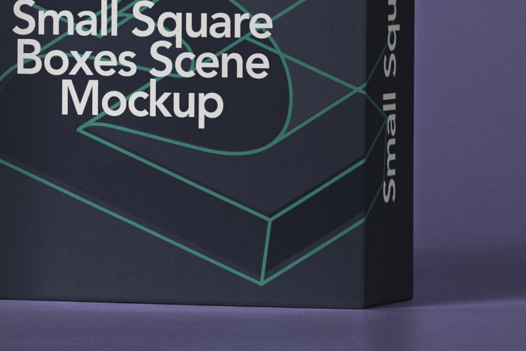 Free Small Square Box Mockup Set PSD Template5