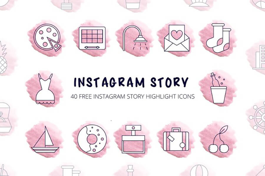 Free Thematic 40+ Instagram Highlight Vector Icons