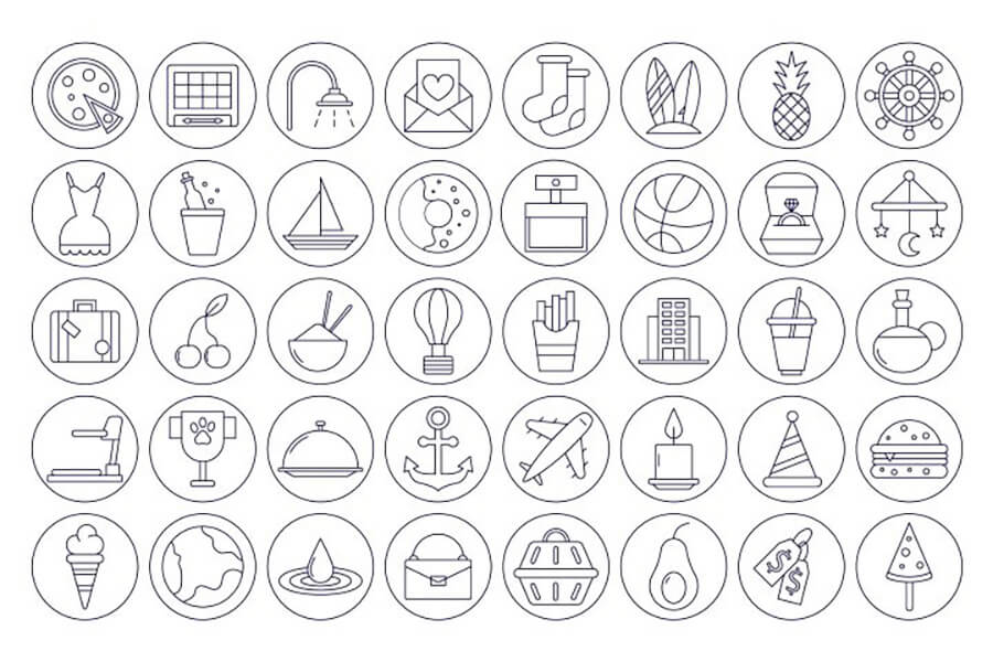 Free Thematic 40+ Instagram Highlight Vector Icons22