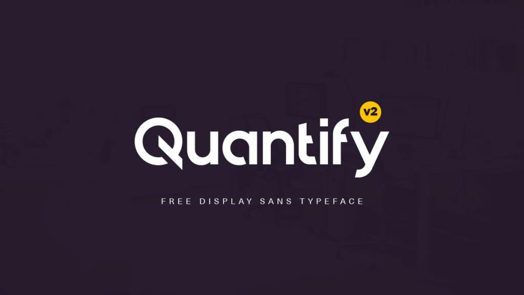 Free Brandable Quantify Font