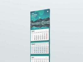 Free Useful Wall Calendar Mockup PSD Template1