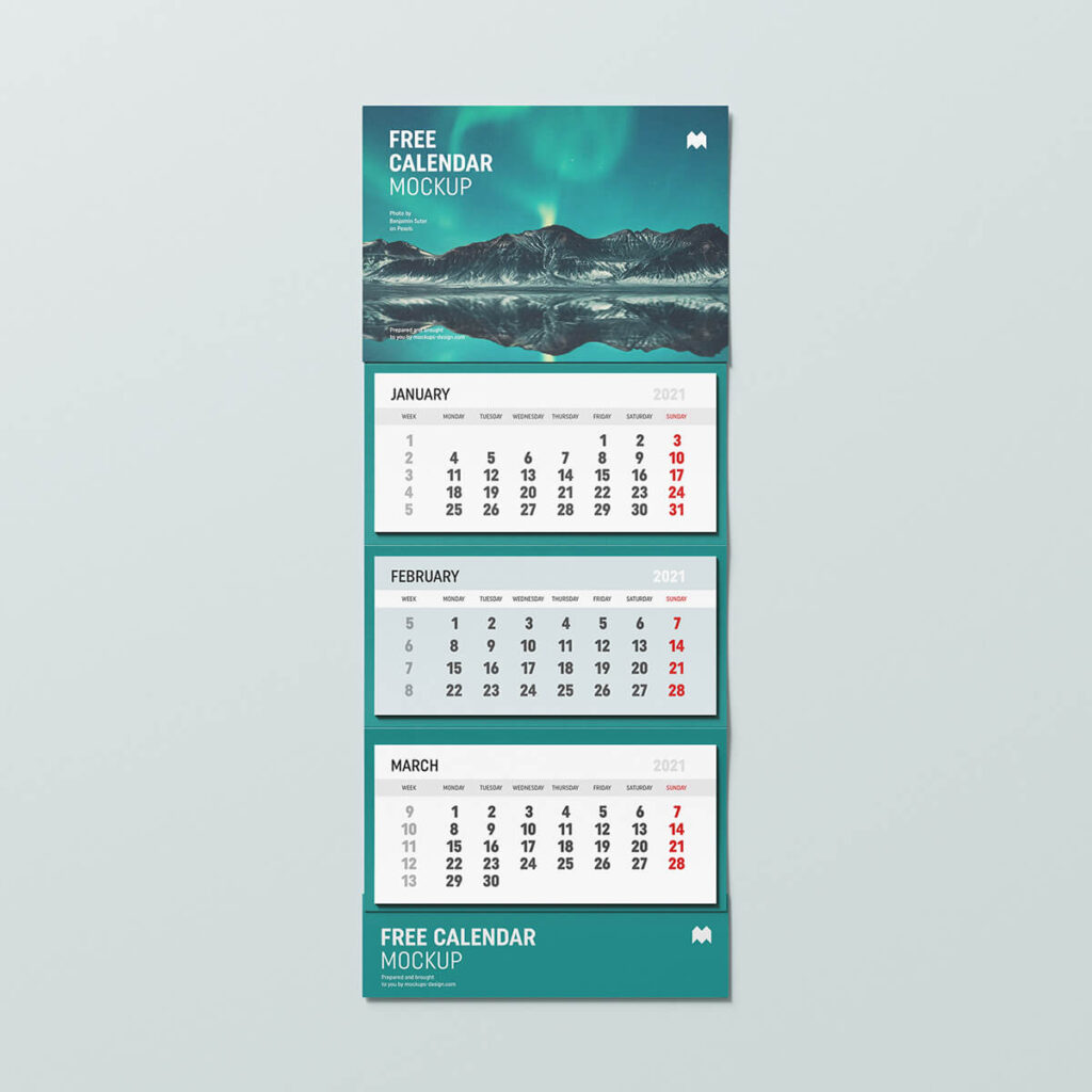 Free Useful Wall Calendar Mockup PSD Template2