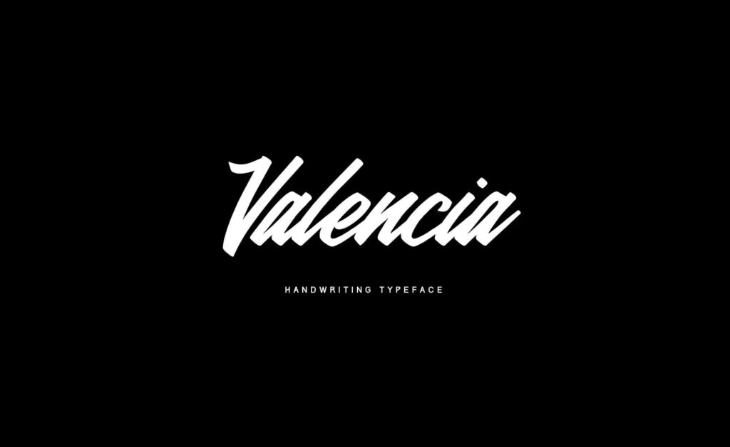 Free Valencia Calligraphy Typeface1
