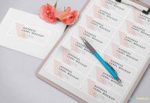 Free Wedding Address Label Mockup PSD Template1