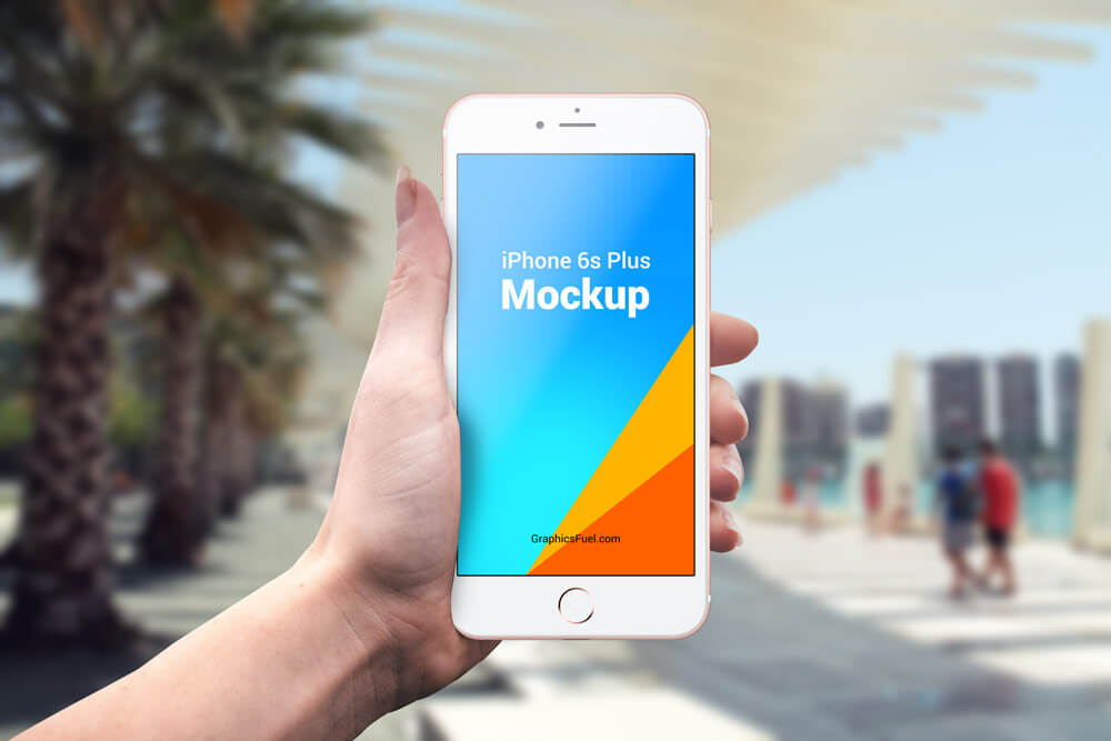 Free iPhone 6s Plus Outdoor Mockups PSD Template1