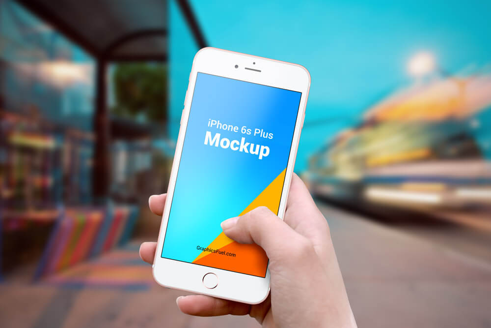 Free iPhone 6s Plus Outdoor Mockups PSD Template2