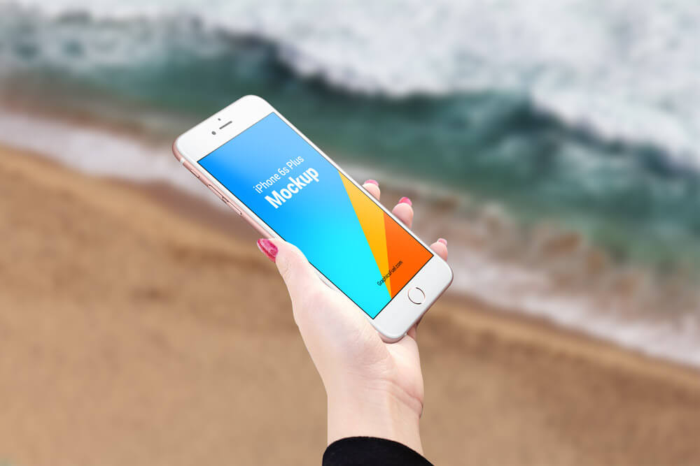 Free iPhone 6s Plus Outdoor Mockups PSD Template3