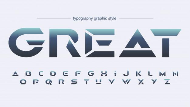 Futuristic sharp edges sports typography Premium Vector