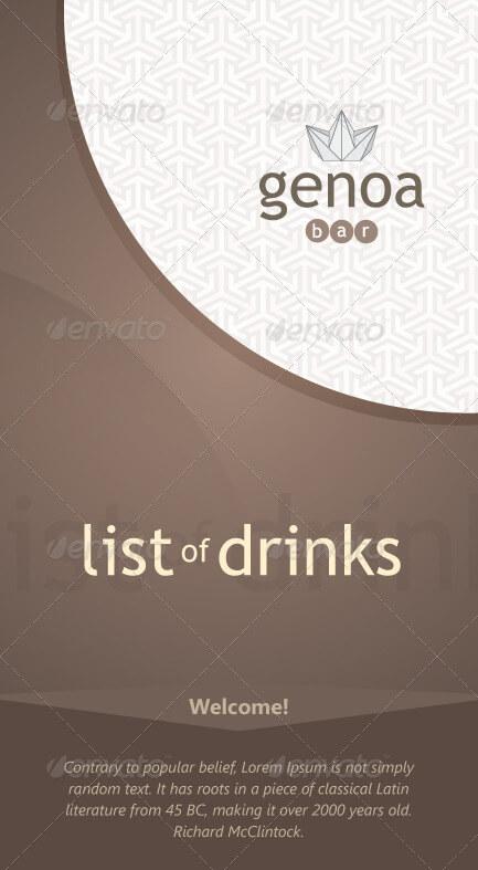 Genoa List of Drinks Template (1)