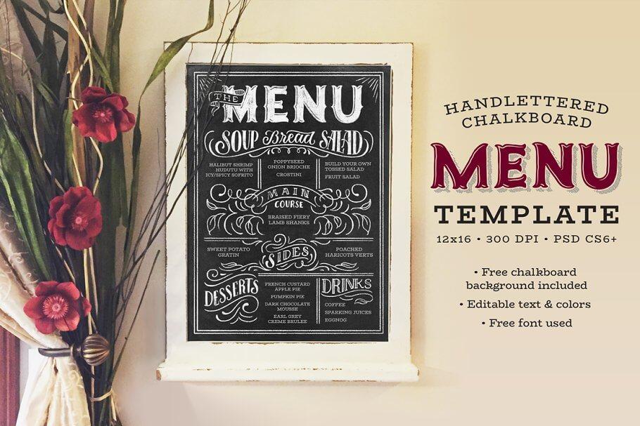 Handlettered Chalkboard Menu (2)