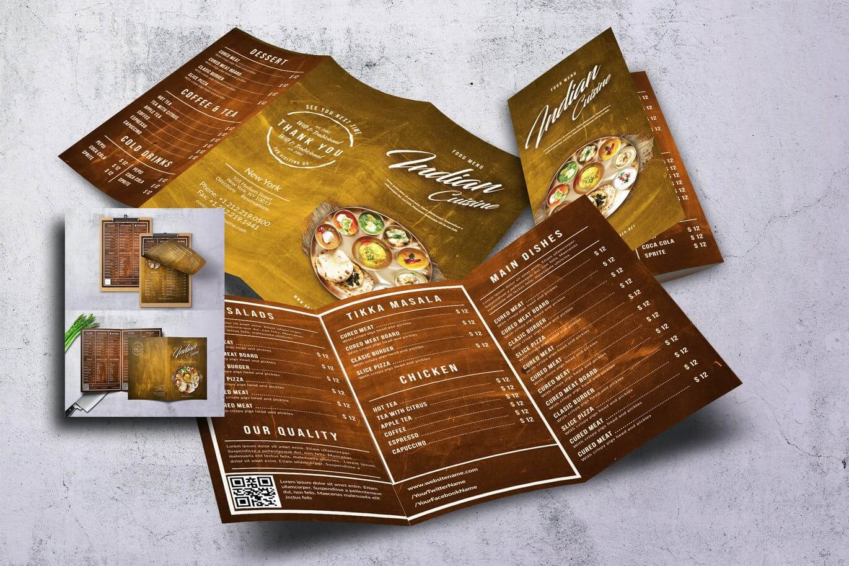 Indian Cuisine Food Menu Bundle (2)
