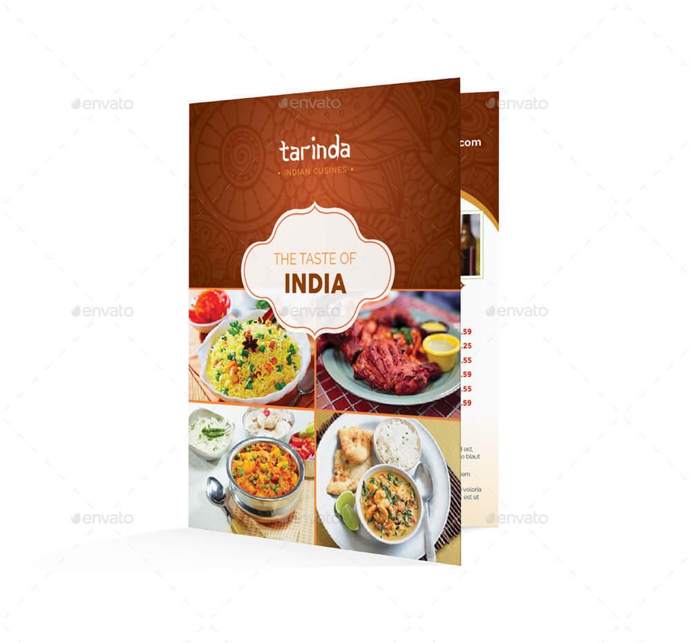 Indian Restaurant Bifold Halffold Menu (1)