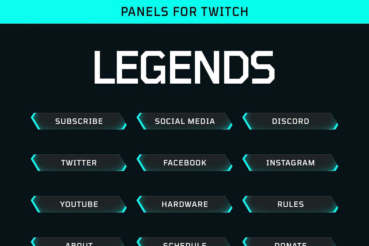 Legends - Twitch Panels Pack