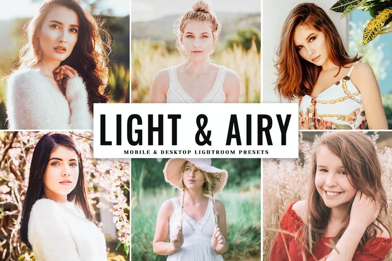Light & Airy Mobile & Desktop Lightroom Presets