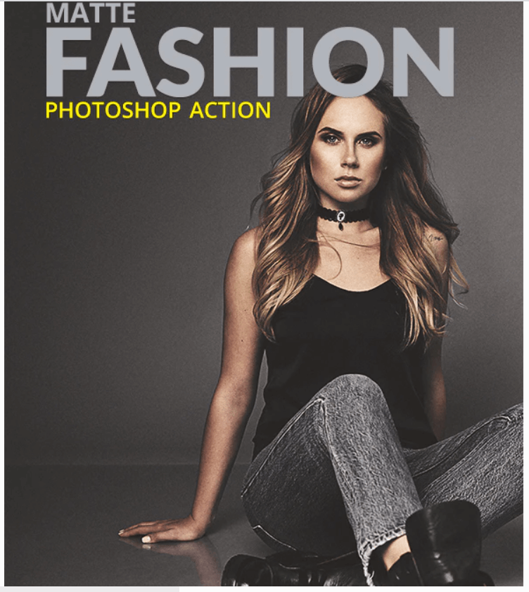 Matte Fashion Photoshop Action