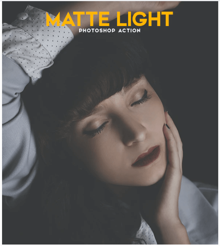 Matte Light Photoshop Action