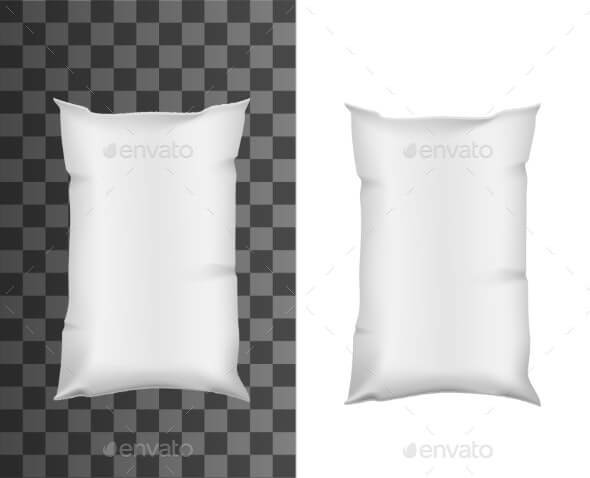 Milk Package Mockup Plastic Bag Pouch Pack