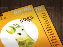 Multipurpose A4 food or drinks menu template (1)