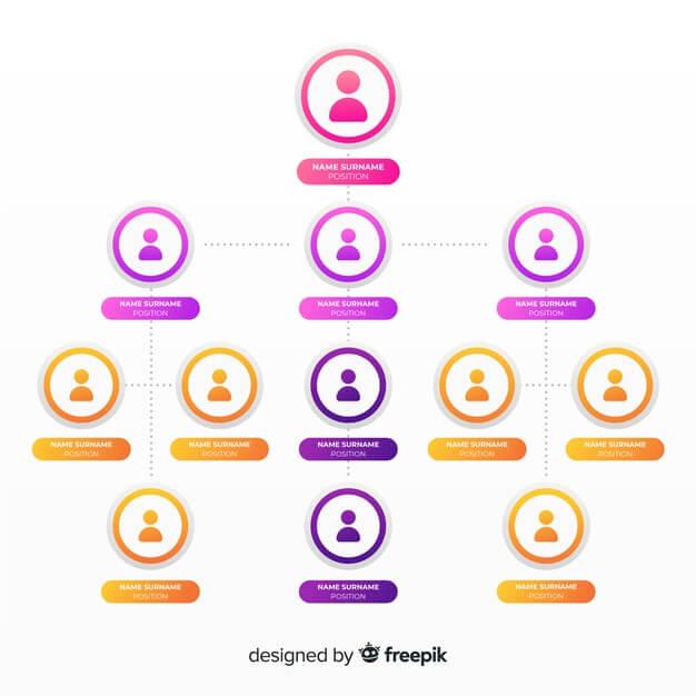 Organization chart Free Vector1