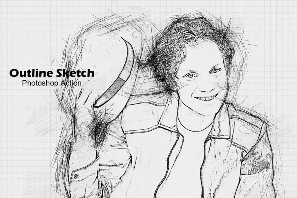 Outline Sketch Photoshop Action