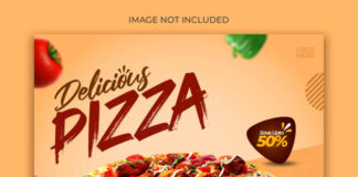 Pizza menu promotion banner template Premium Psd (1)