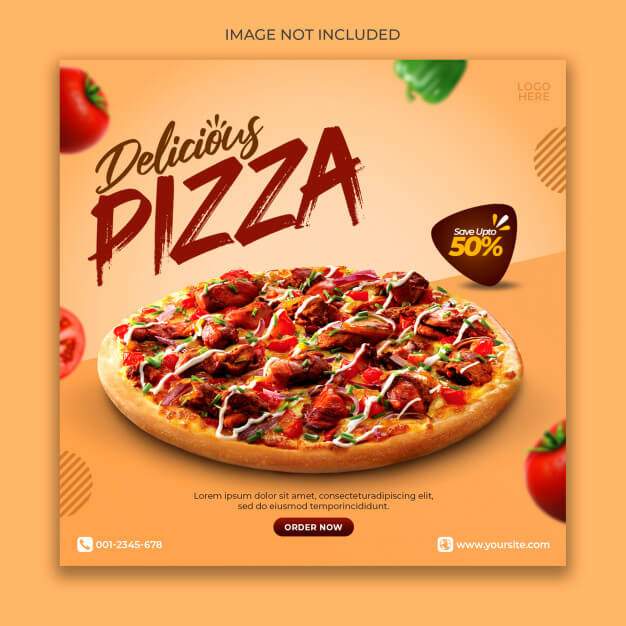 Pizza menu promotion banner template Premium Psd (1)