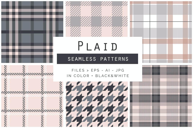 Plaid Seamless Patterns (1)
