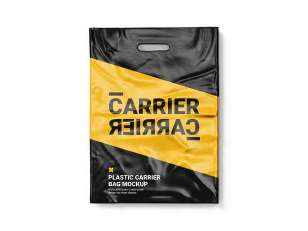 Plastic carrier bag mockup template Premium Psd