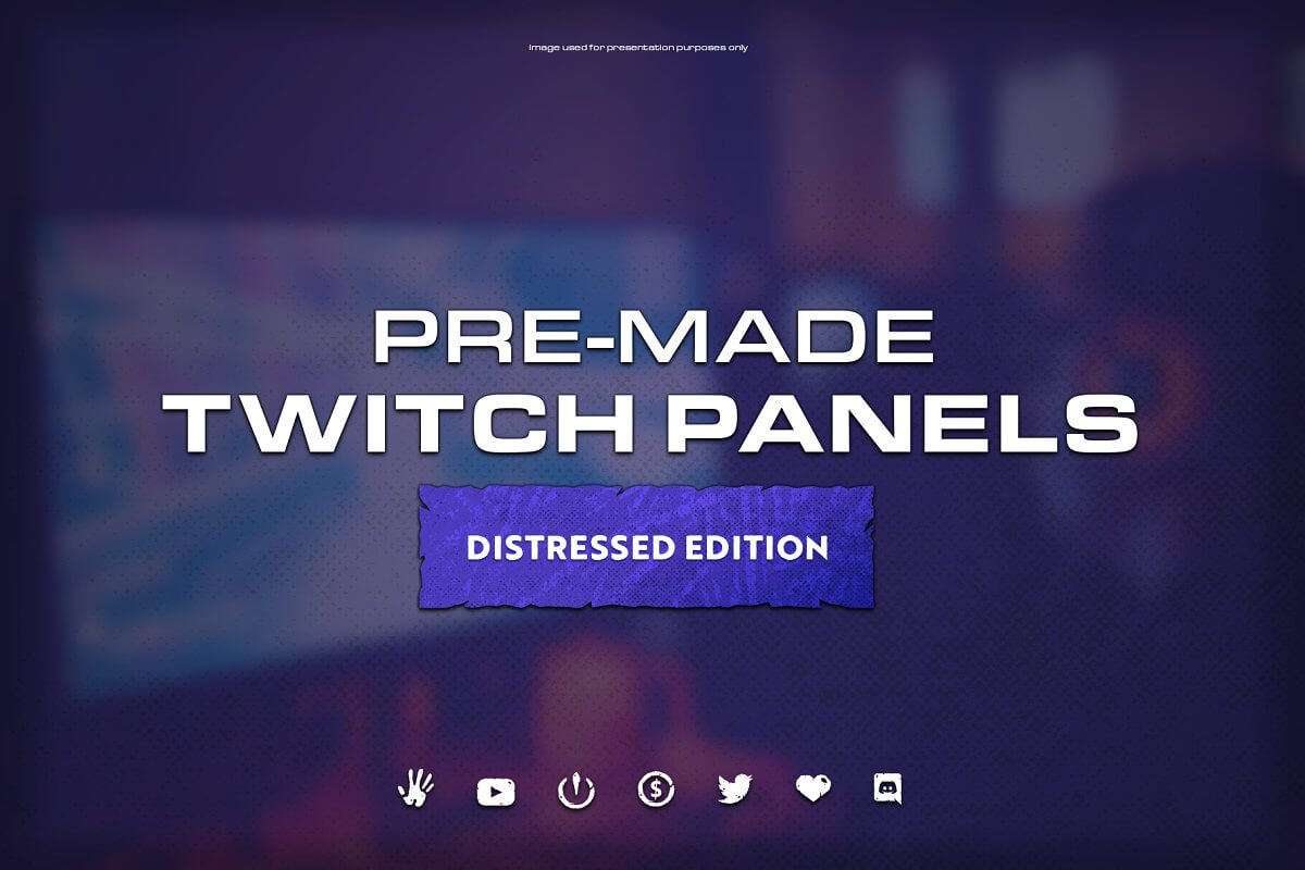 Pre-Made Twitch Panels