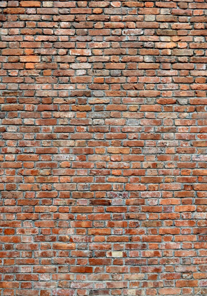 Red Brick wall texture portrait