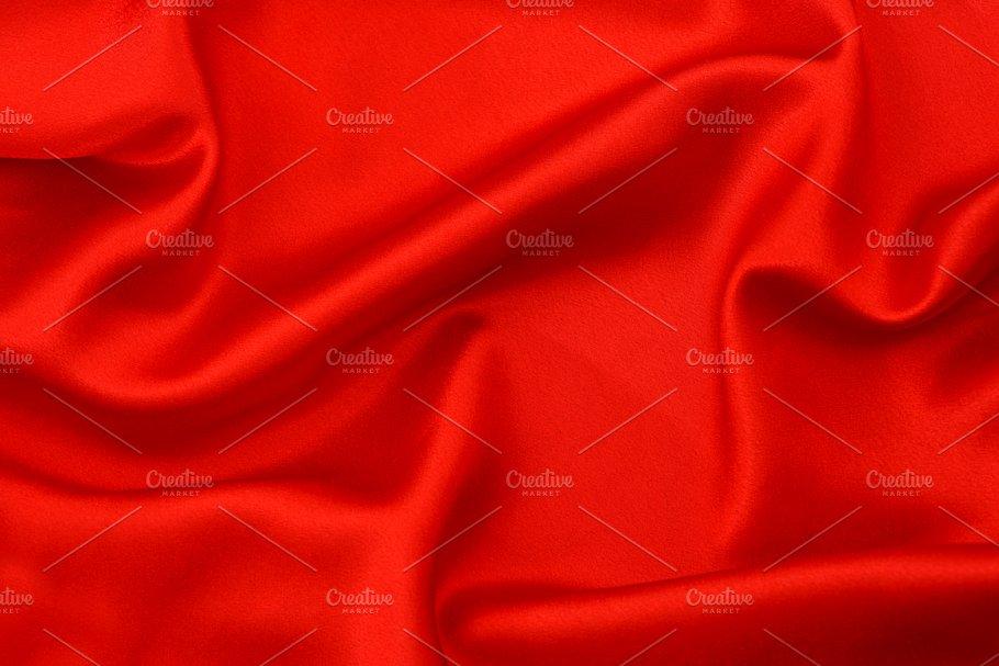 Red Silk Background Texture