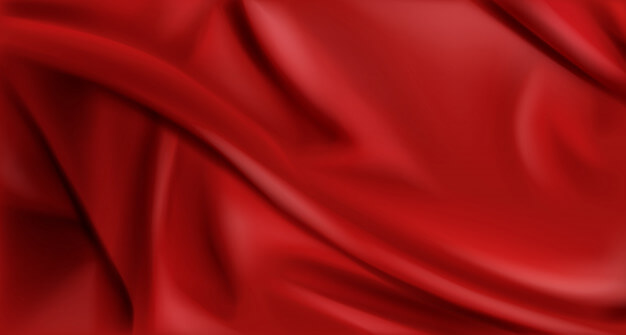 Red silk folded fabric background, luxury textile Free Vector