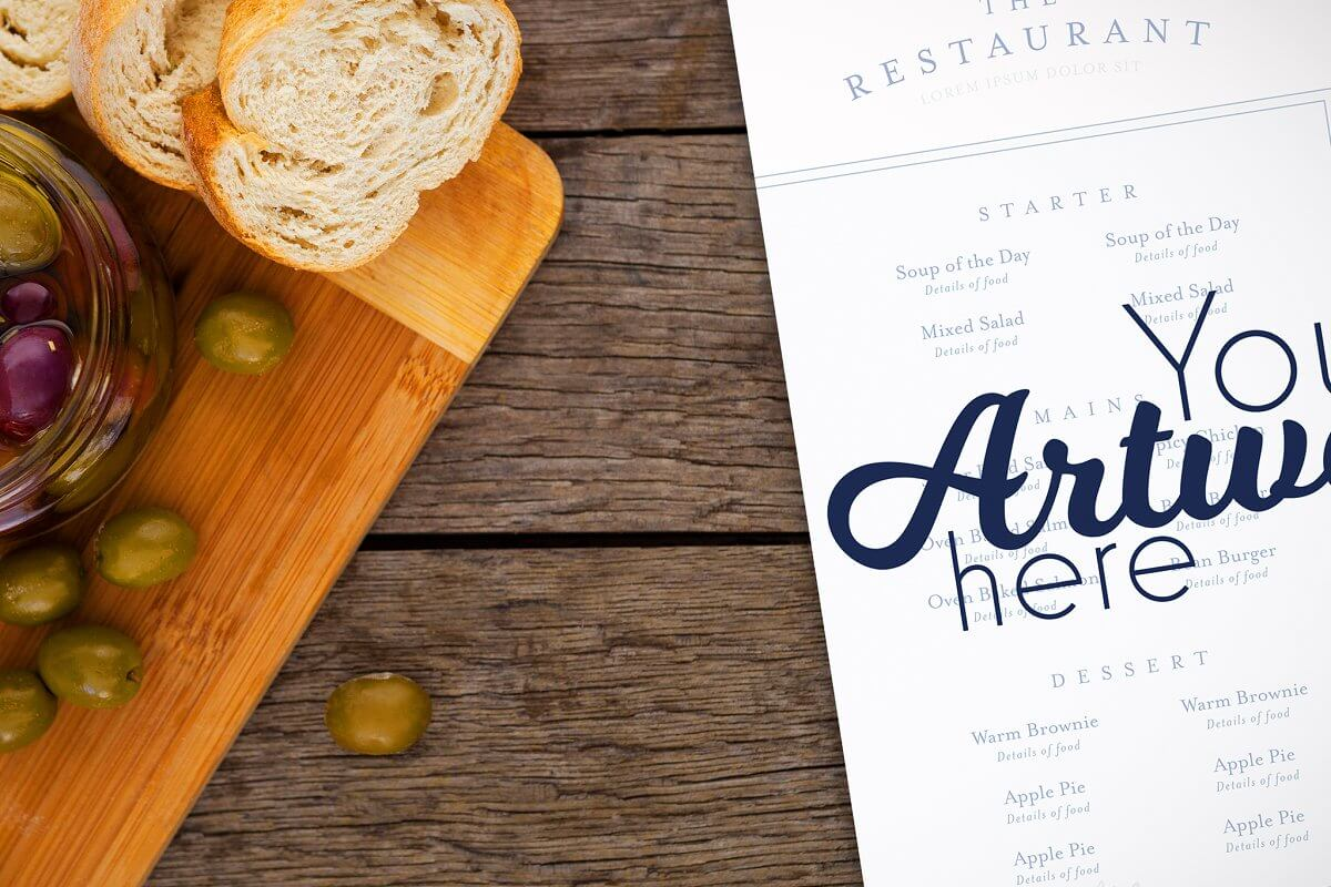 Restaurant Fancy Menu Mockup (1)