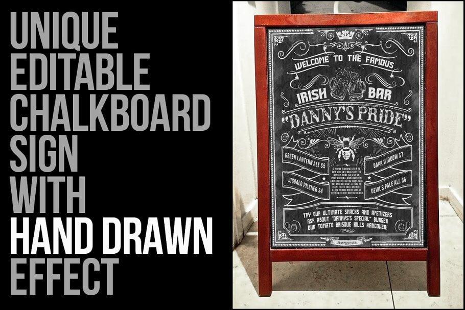 Sketched Chalkboard Menu Design Kit (1)