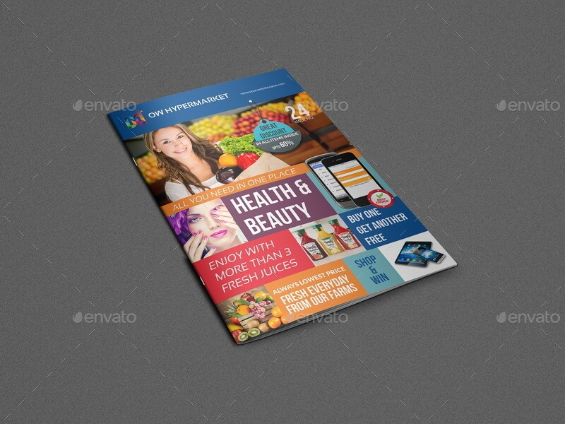 Supermarket Products Catalog Brochure Template