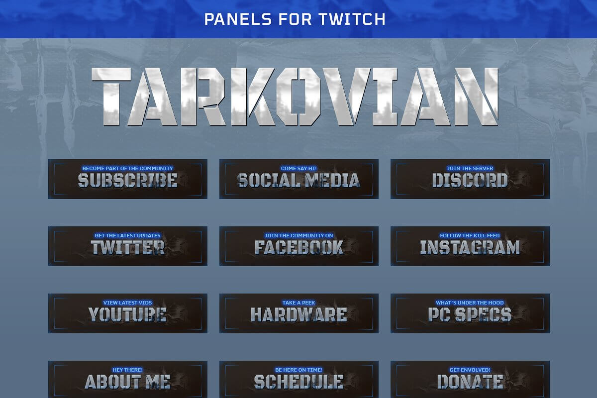 Tarkovian - Panels for Twitch