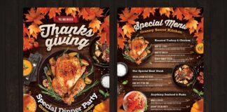 Thanksgiving Dinner Flyer + Menu (1)