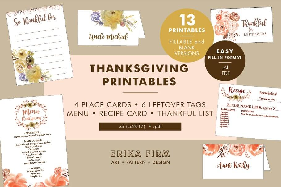 Thanksgiving Printables Bundle (1)