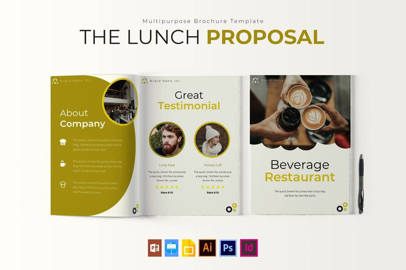 The Lunch Brochure Template